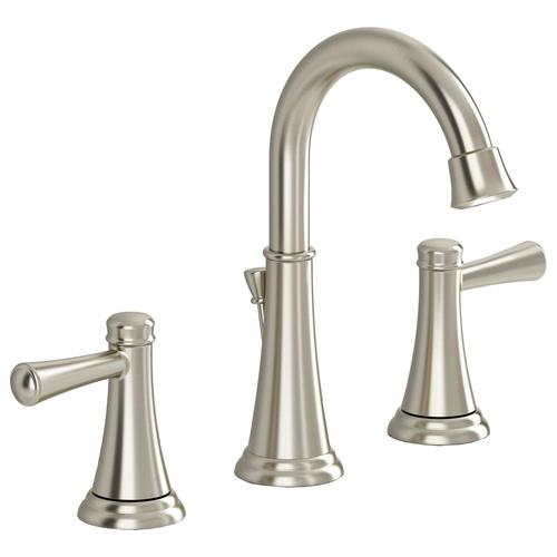 Satin Nickel faucet @ Lowes Renovation Pinterest