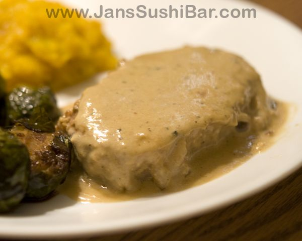 Pork Chops Braised in Milk, Cream and Garlic