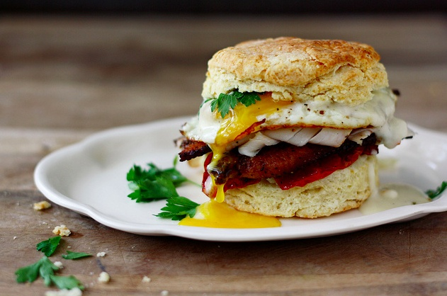 Kentucky Hot Brown On A Biscuit | Breakfast. | Pinterest