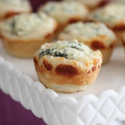 Baked Spinach Dip Mini Bread Bowls | yummy ideas | Pinterest