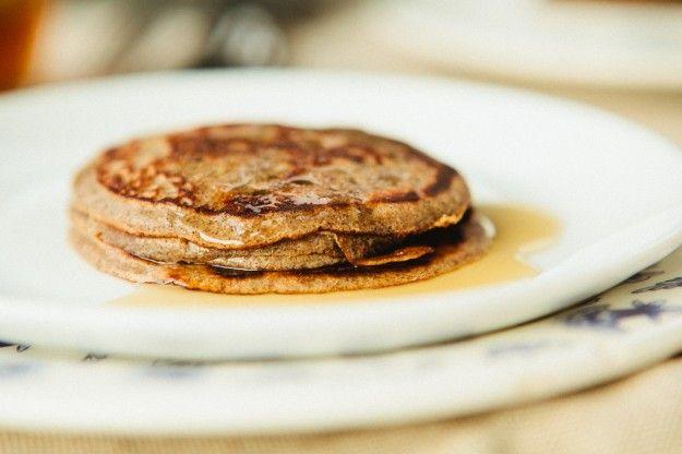 Pannenkoeken (Dutch yeasted buckwheat pancakes)