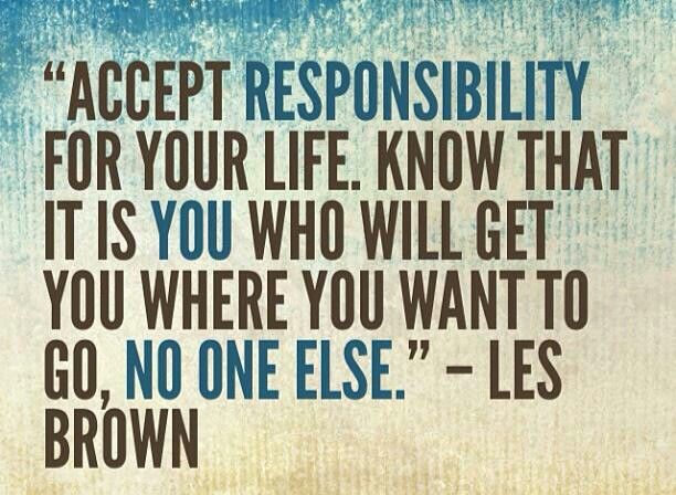accepting personal responsibility By jennifer blanchard personal responsibility is the responsibility you have to yourself it's your ability to keep yourself healthy, manage your emotions, be.