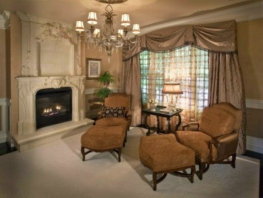 Pin by lisa lesch on livingroom decorating ideas pinterest for High end curtains and window treatments
