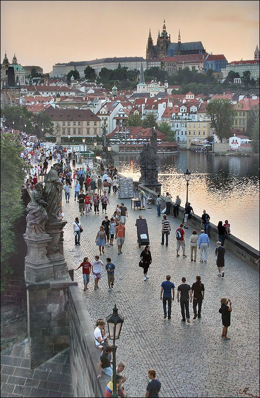 Charles Bridge, Prague, Czech Republic  Love it here!