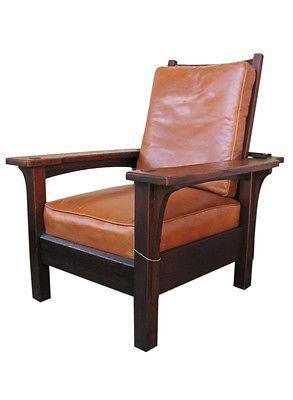 Antique l amp jg stickley large morris chair hoping the old chair