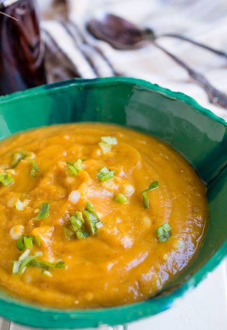 Sweet Potato, Corn and Jalapeño Bisque | Vegan | Pinterest