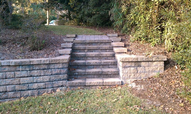 Two Tiered Backyard :  to create a twotiered yard and to create steps to a flatter backyard