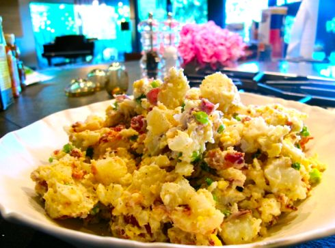 Texas Country Potato Salad Smooth and creamy with pops of bacon and ...