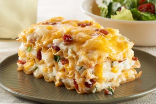 Potato & cheese pierogies lasagna - potato lasagna! I would modify the ...