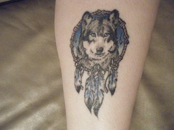 Wolf tattoo dreamcatcher - photo#19