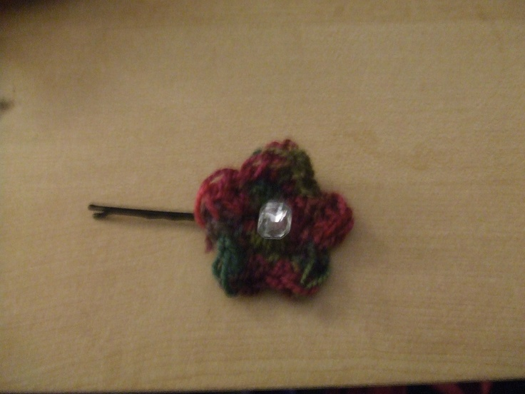 Crochet hair clip pattern Crochet to do Pinterest