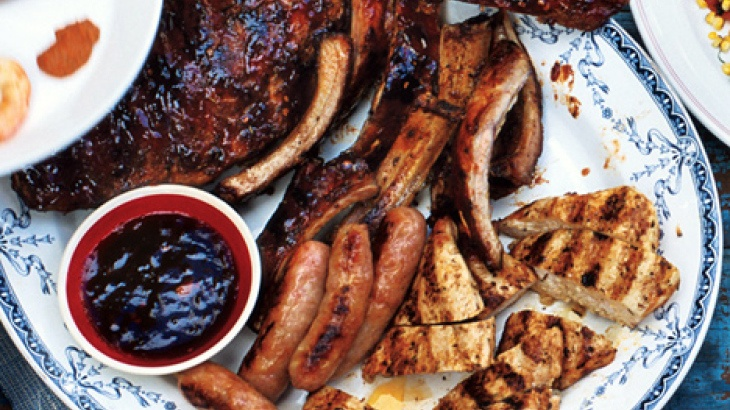Mixed Grill with Cherry Cola Barbecue Sauce
