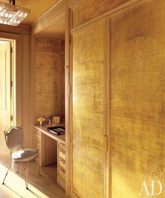 Dressing Room Painting Metallic Gold Home Pinterest