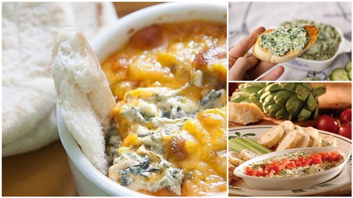 Delicious Copycat Olive Garden Hot Spinach and Artichoke Dip