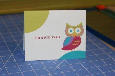 DIY : Free Printable Owl Thank You Card