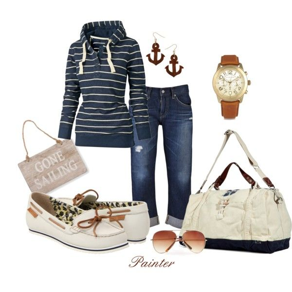 I love this look, especially now when the mornings and evenings are cool. Perfect for a day at the beach too.