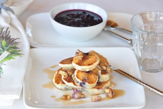 ... the idea of making pancakes this small! Blueberry Buttermilk Pancakes