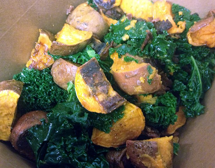 Sweet Potato Kale Salad | delicious | Pinterest