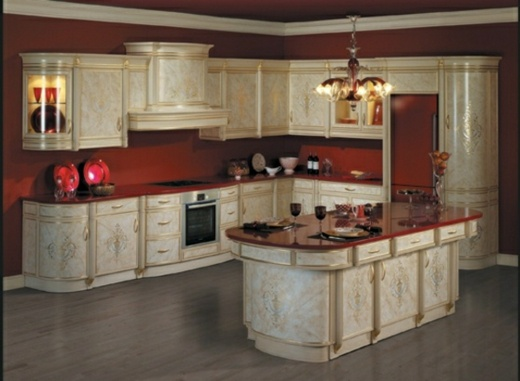 red wall colour white kitchen  Kitchens and Dining Rooms  Pinterest