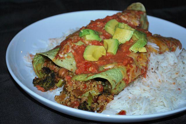Roasted Veggie Enchiladas by Agent_Scully, via Flickr