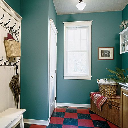 Mudroom Color And Wall Hooks