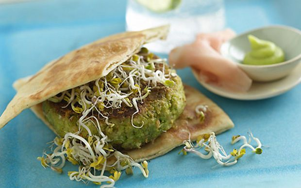 Edamame Veggie Burger by Food Network Kitchens (Carrot, Pulses and ...