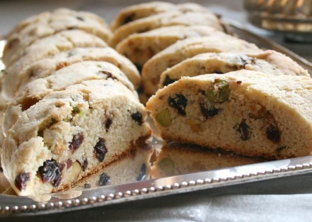 Biscotti with Pistachios & Cranberries. We used dried cherries ...