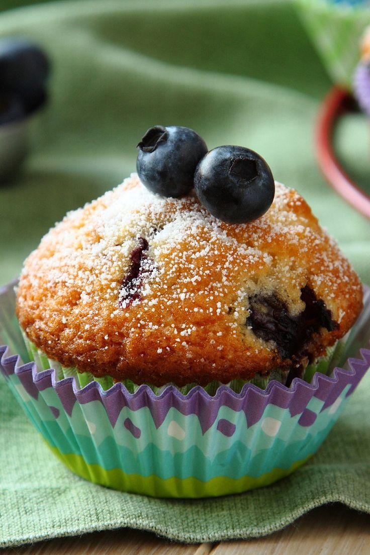 Blueberry Cream Muffins Recipe | cupcakes | Pinterest