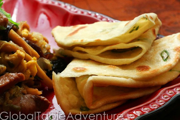 Recipe: Chinese Pancakes with Green Onion ( try wheat flour for using ...