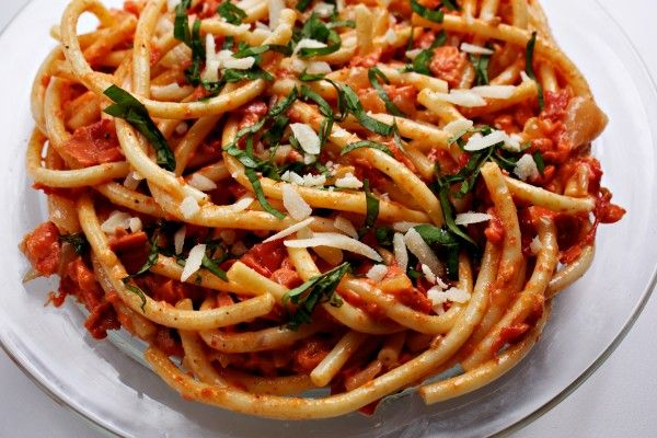 Tomato and Smoked Salmon Pasta | Recipe
