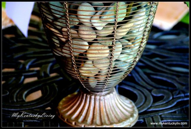 wire vase and river rocks | Home | Pinterest