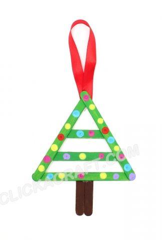 Popsicle Stick Christmas Tree Decoration | vánoční tvoření s ...