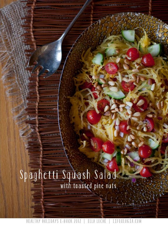 Spaghetti Squash with toasted pine nuts from the FREE E-Book : HEALTHY ...