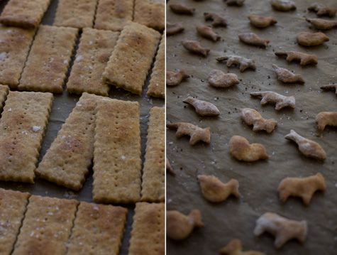 Oatmeal Crackers - cooked rolled oats, dark rye flour, and all purpose ...
