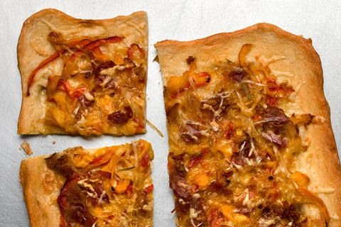 Pancetta and Pepper Pizza | Pizza & Flatbreads | Pinterest