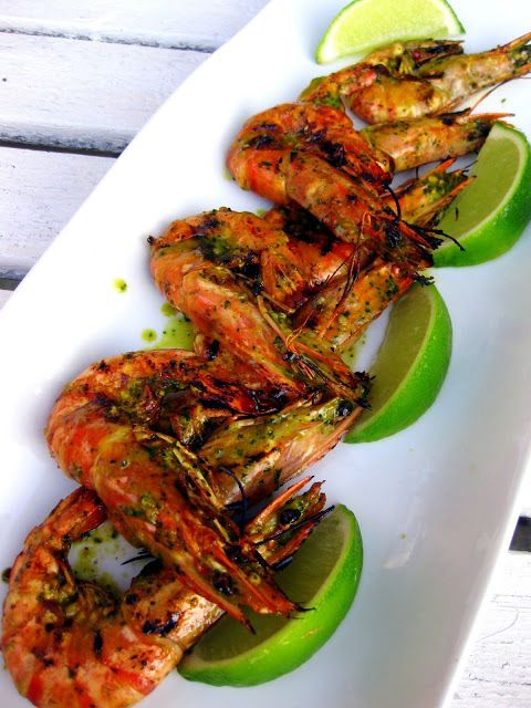 Dragon's Kitchen: Grilled Shrimp with Chile, Cilantro and Lime