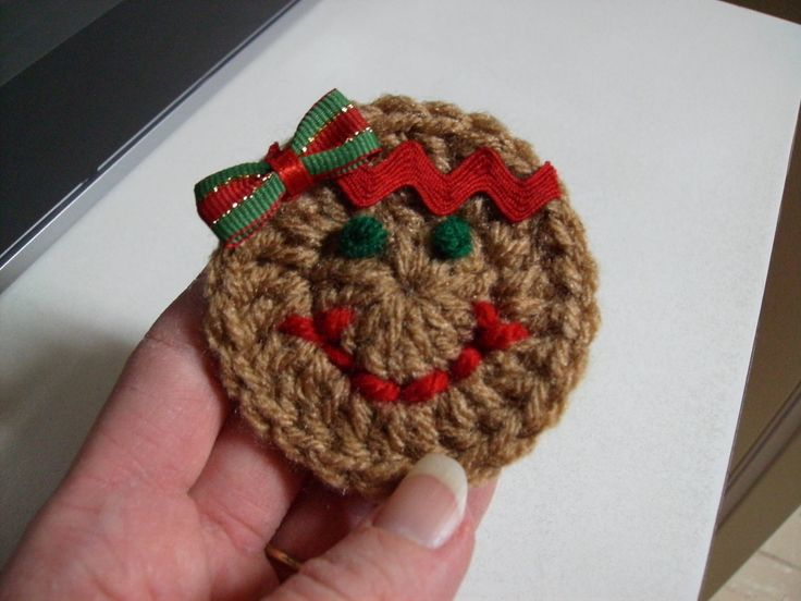Free Gingerbread Girl Magnet Crochet