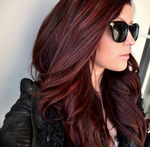 Chocolate Cherry Hair Color Pictures  Dark Brown Hairs