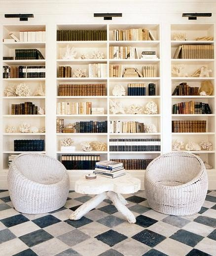 Need this wall of shelves for the bonus room!