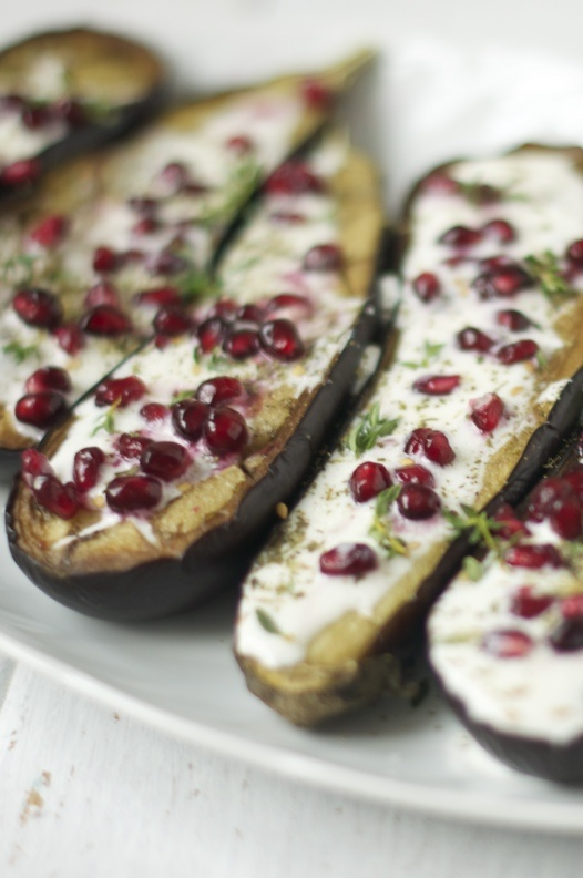 aubergines with buttermilk sauce | Edible | Pinterest