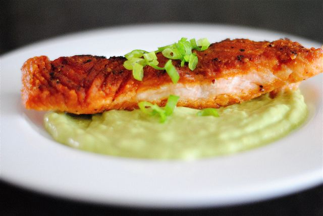 pan seared salmon with avocado remoulade by The Red Spoon, via Flickr