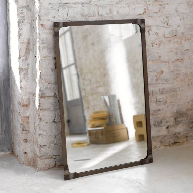 Miroir style industriel la redoute for the home pinterest - Grand miroir mural sur mesure ...