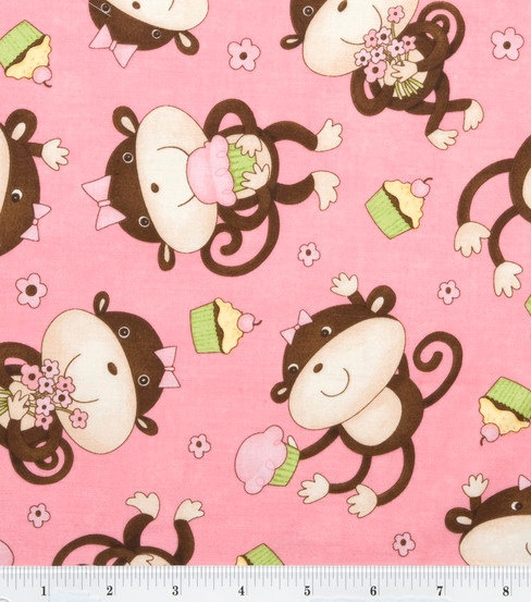 Sock monkey fabric images frompo for Baby monkey fabric prints