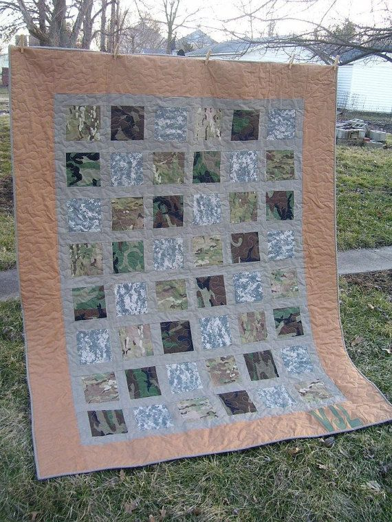Army Military Uniform Quilt - pretty cool!