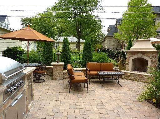 Backyard Built In Grill Ideas : backyard fireplace and built in grill  Backyard Renovation Ideas