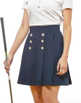Catherine Wingate Pleated Skort Shown in Navy