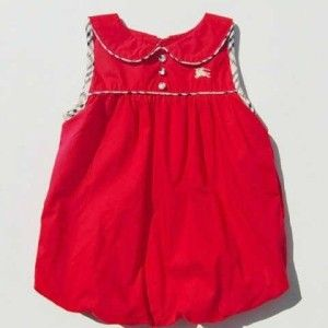 Dress Baloon Red Burberry #Dress #Red #Burberry