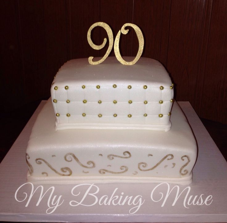 Happy 90th Birthday Cake Cake Decorating Pinterest
