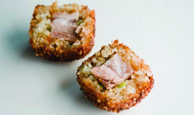 pork belly onigiri | foodie | Pinterest