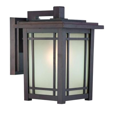 Port Oxford Wall-Mount 1-Light Outdoor Oil-Rubbed Chestnut Lantern